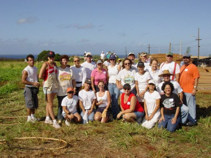 Group photo of KBR team for Habitat for Humanity